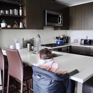 気分が乗ったときに勢いで片付けたキッチン。オシャレして気分転換って大事。