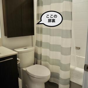なぜ使わなかった?便利すぎる洗面所の扉裏。100均商品で収納スペースへ変身。