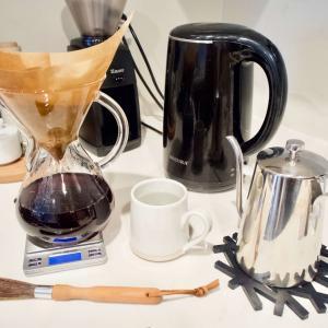 ケメックスで美味しいコーヒーを楽しむ時間はやっぱり幸せ。