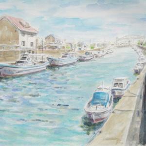 網干の運河