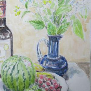 西瓜と葡萄
