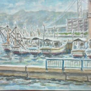 垂水港と明石大橋