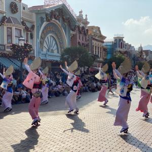 香港ディズニーランドで阿波踊り?最高の体験♡