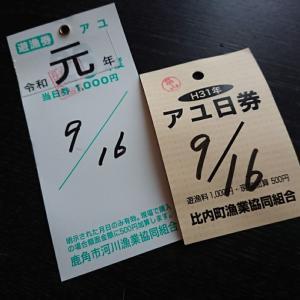 大鮎チャレンジ 2日目  ~秋田鮎釣り2019~