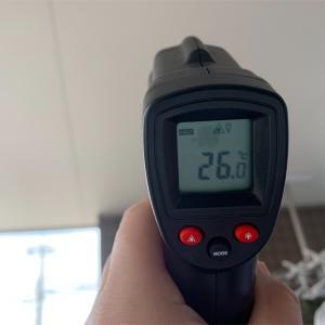 バルコニーとベランダの床の温度を測ってみました!【春編】