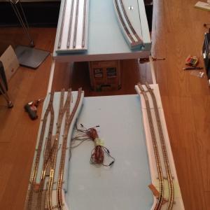 ベースボードの歪み補正とバラスト固着実験