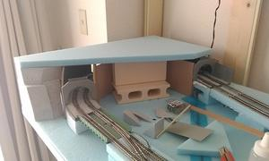 左側カーブ:トンネル製作 その3