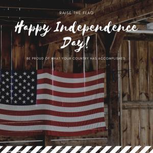 アメリカ独立記念日のレッスン