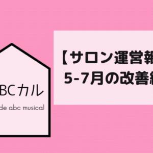 【サロン運営報告】ABCカル5月~7月のサロン改善内容