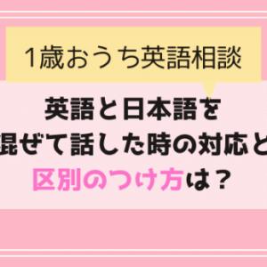 【おうち英語相談】英語と日本語の区別のつけ方と混ぜて話した時の対処法