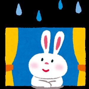首が痛くて雨の休日