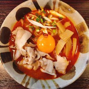 麺道くろとんの【限定】旨辛肉玉拉麺