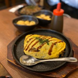 神戸の長田でご当地ランチ!オムそばめしめちゃ美味し~♪「鉄板和バル KAZU」・・・高速長田
