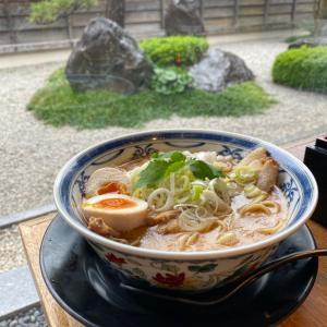 日本庭園を眺めながら食べるラーメン屋さん『だしと麺』・・・西宮市山口町