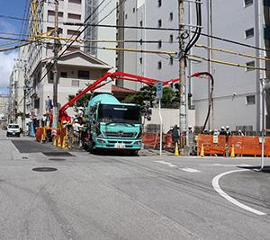 那覇市久米ホテル新築工事進捗状況