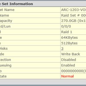 RAID1 トリプル対応のファームウェアがリリース