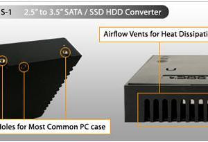 2.5インチストレージ、3.5インチサイズHDDへの変換ケース(MB882SP-1S-1B , MB882SP-1S-2B)
