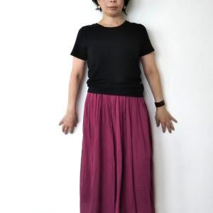 【コーデ】いつまで着られる?シャツとスカートの骨格ストレートファッション