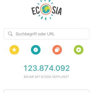 Ecosia使ってます