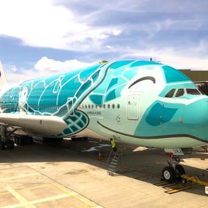 エアバスA380 フライングホヌでハワイへ