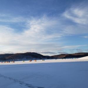 2020岩洞湖氷上スタート