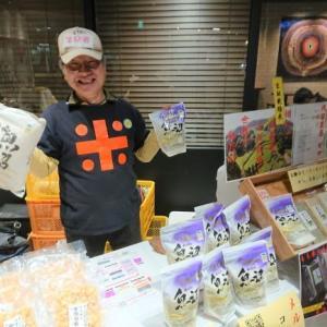 長岡駅構内にて、小千谷物産展!