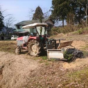 畑仕事を始める