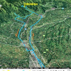日勝峠展望台へ行ってきました 自転車では初めてです