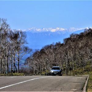 白樺峠から見る日高山脈