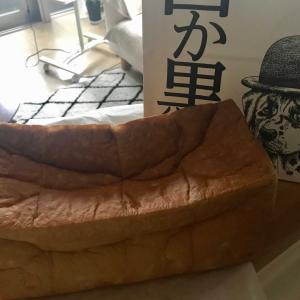 今日の図書館と焼き立て食パン