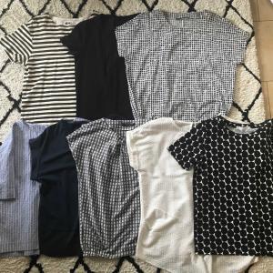 真夏のトップス選びの基準と捨てた服