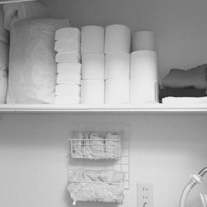 洗濯機置場の収納【2018.10】
