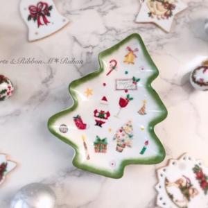 初めての上絵の具♡クリスマスツリープレート