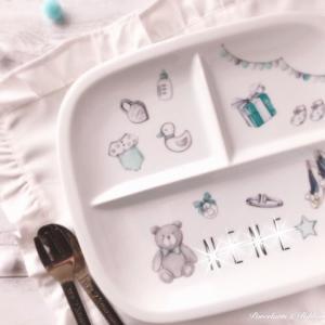 出産祝いに♡名入れ食器のプレゼント