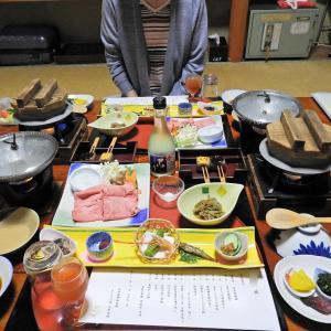まごころの宿 丸井旅館の夕食 @ 田辺市龍神村西9-2