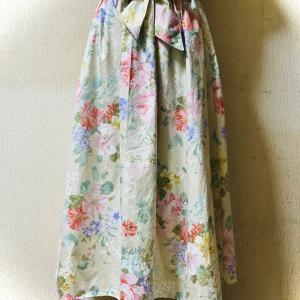 花柄のフレアースカート完成