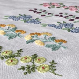 花刺繍サンプラー完成