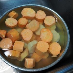 さつま芋でスイートポテト餡