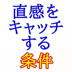 【No.075】偽の直感、真の直感の違いはコレ!
