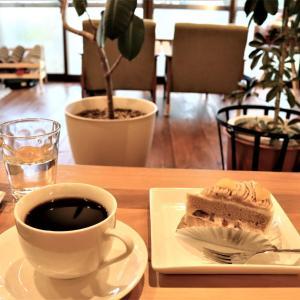 盛岡市・ちひろ菓子工房の「栗のケーキ」と「オーロラコーヒー」で寛ぎ時間