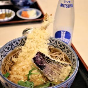 宮沢賢治とJAZZ・花巻市「やぶ屋」で賢治セットは天ぷら蕎麦と三ツ矢サイダー