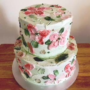 バタークリームのウェディングケーキ