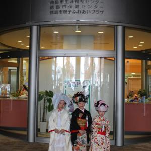 芸術文化祭に初出演した子供の花嫁さん