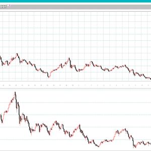 ドル円と日経平均 1979年以降の月足チャート比較