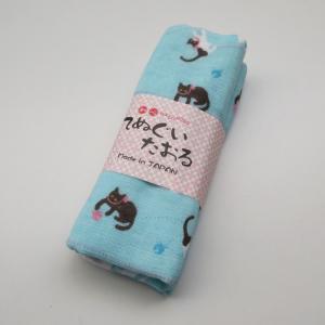 日本製 猫柄 手ぬぐい タオル地