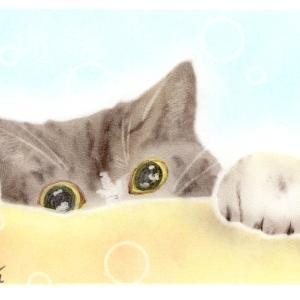 「猫」と「描」は似てますな