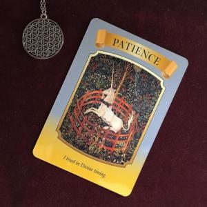 カードメッセージ:忍耐って宇宙を信じる愛の姿