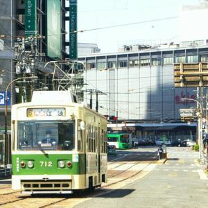 広島駅周辺の広電電車 2020-4 -④