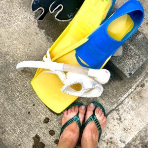 やっと海!久しぶりのスノーケリングとCafe のら