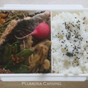 豆苗と豚肉の中華炒めのお弁当